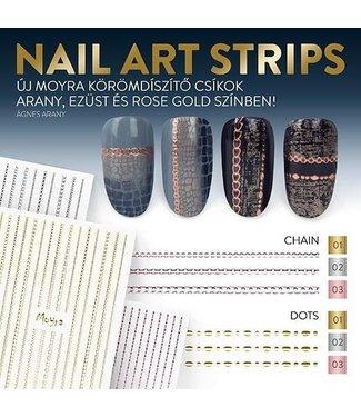 Moyra Nail Art Strips Dots Rose