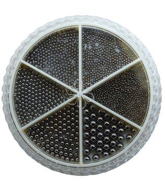 Urban Nails Caviar Beads Wheel Gun Metal Black