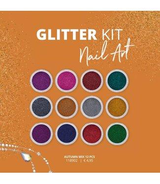 Magnetic Nail Design Glitter Kit Autumn 12 stuks