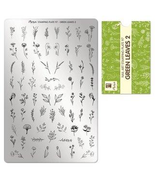 Moyra Stempelplaat 97 Green Leaves 2