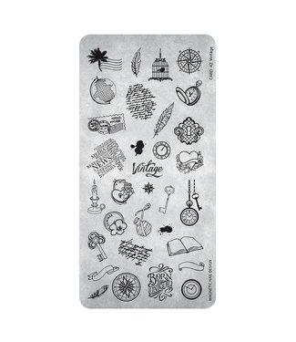 Magnetic Nail Design Stempelplaat 42 Vintage