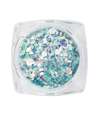 Magnetic Nail Design Mirror Inlay Light Blue