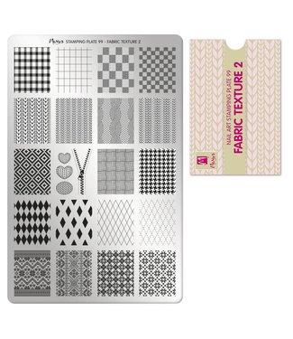 Moyra Stempelplaat 99 Fabric Texture 2