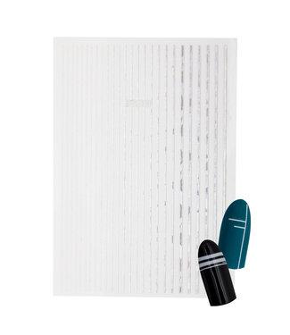 Magnetic Nail Design Liner Tape Holographic Zilver
