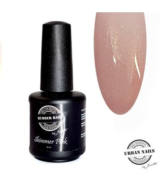 Urban Nails Rubber Base Shimmer Pink Goud