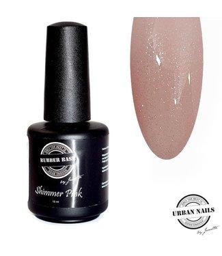 Urban Nails Rubber Base Shimmer Pink Zilver