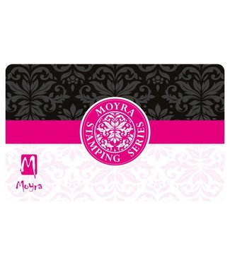 Moyra Schraper nr. 10 zwart/roze