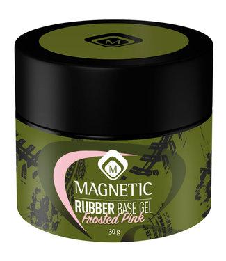 Magnetic Nail Design Pot Rubber Base Frosted Pink 30 gr.