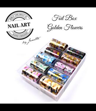 Urban Nails Foil Box Golden Flowers