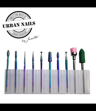 Urban Nails Manicure Set Special Edition Rainbow 10 bits