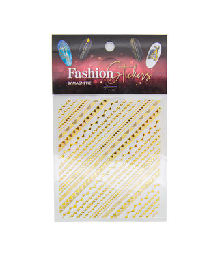 Magnetic Fashion Sticker Graphic Gold