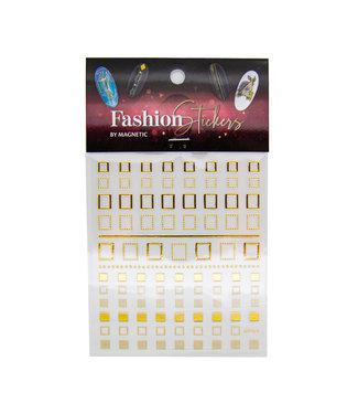 Magnetic Fashion Sticker Square Gold
