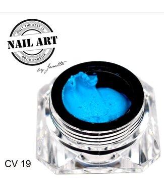 Urban Nails Carving Gel 19 Aqua Blauw 7 gr.