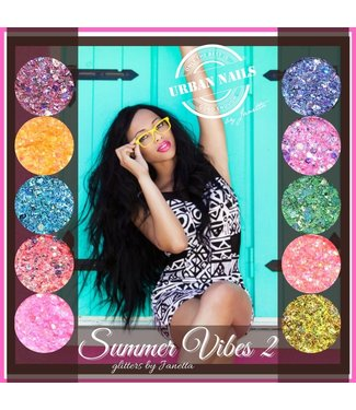 Urban Nails Summer Vibes by Janetta Glitter 2