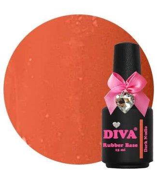 Diva Rubber Base Dark Nude 15 ml.