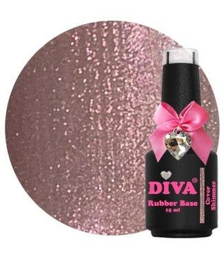 Diva Rubber Base Cover Shimmer 15 ml.