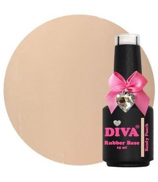 Diva Rubber Base Sandy Peach 15 ml.