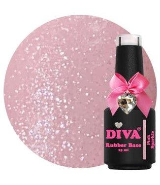 Diva Rubber Base Pink Sparkle 15 ml.