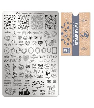 Moyra Stempelplaat 109 Stamp by Me - nu met tijdelijk gratis pigment!