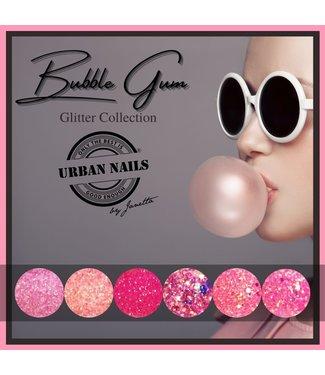 Bubble Gum Glitter Collection 6 stuks