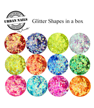 Urban Nails Glitter Shapes In A Box