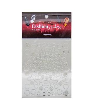 Magnetic Fashion Sticker Circles Silver