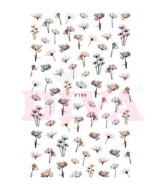 Diva Design Stickers Flower 8 - F199