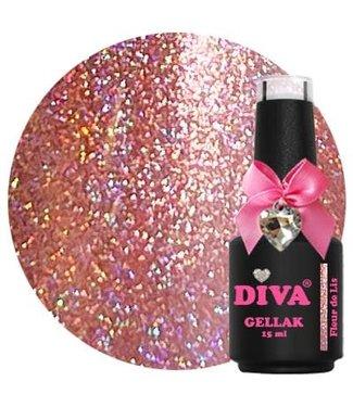 Diva 133 Gellak Holo Fleur de Lis 15 ml.
