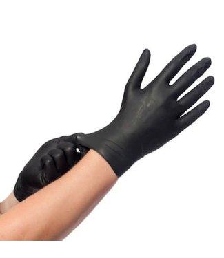 Handschoenen Nitril Zwart  Eurogloves 100 stuks Large