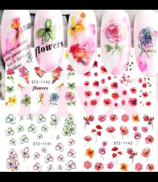 Diva Diva Waterdecals Flowers STZ1141-1144