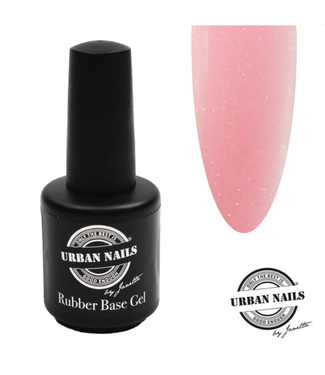 Urban Nails Rubber Base Gel Baby Pink Silver