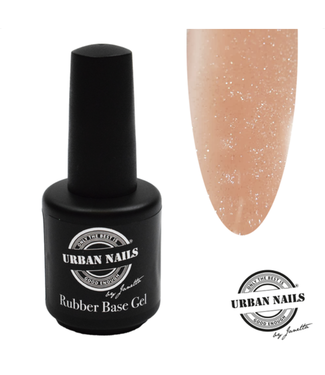 Urban Nails Rubber Base Gel Salmon Silver