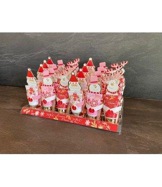 Handcrème Kerst Display 24 st. roze/rood