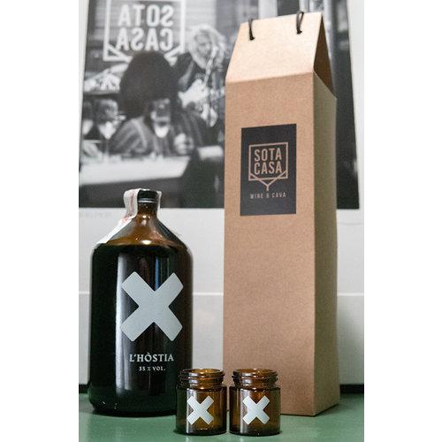 L'HOSTIA pack! bottle + 2 glasses