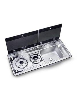 Dometic Dometic MO 9722R Kombination aus 2-flammigem Kochfeld und Spüle