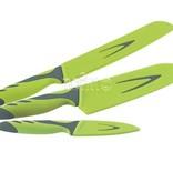 Outwell Messerset GREEN, 3tlg.,bestehend aus Schneid-, Brot- u. Santokumesser