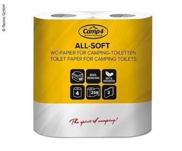 Camp4 Toilettenpapier, 2-lagig, 4 Rollen