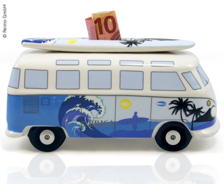 VW Collection VW Collection Spardose Bulli mit Surf-Brett, Porzellan