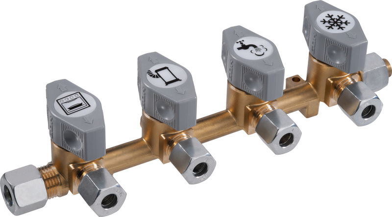 GOK Schnellschluss-Absperrventile für 8mm Gasrohr - Verschiedene Varianten