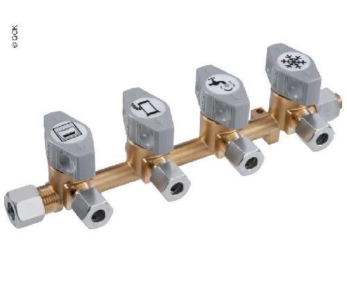 GOK Schnellschluss-Absperrventile mit 10mm Eingang & 8mm Abgängen - Verschiedene Varianten