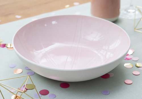 Villeroy & Boch Serveerschaal Leaf It's my match - Powder roze