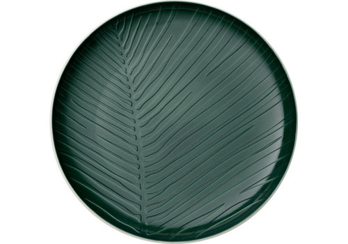 Villeroy & Boch Plat bord Leaf It's my match - Green groen