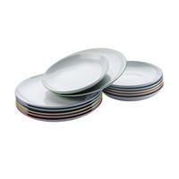 Dinnerset 6 platte en 6 diepe borden Cucina Colori