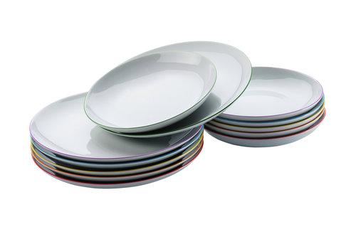 Arzberg Dinnerset 6 platte en 6 diepe borden Cucina Colori
