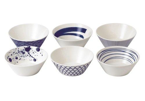 Royal Doulton Set 6 bowls Pacific Blue 15 cm