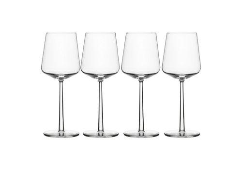 Iittala Set van 4 rode wijnglazen Essence