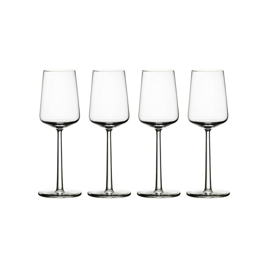 Set 4 witte wijnglazen Essence-1