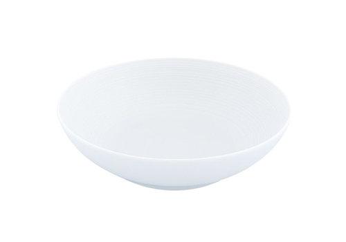 Coquet Limoges Diep bord / Bol salade Coquet Hémispère wit 17 cm