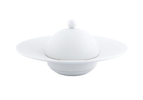 Coquet Limoges Stolp voor diep bord met rand 26,5 cm Coquet Hémisphère wit