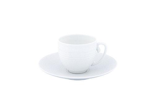 Coquet Limoges Schoteltje / Ondertas voor mokkakop Coquet Hémisphère wit